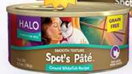 Free Can of Halo Pate for Cats or Dogs