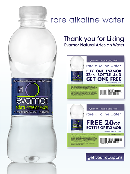 Free Bottle of Evamor Natural Artisan Water