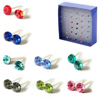 Free Crystal Stud Earrings
