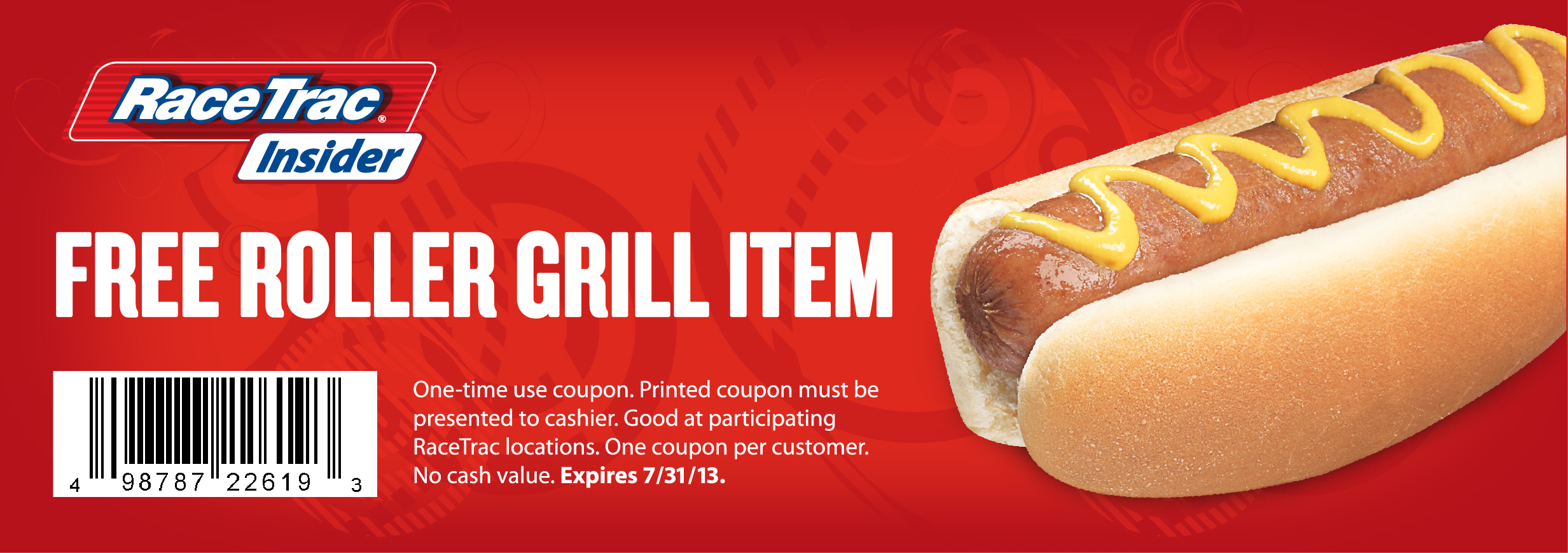 FREE roller grill item at Race...