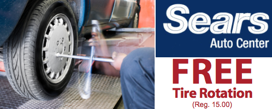 Sears tire rotation coupon august 2018