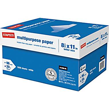 Free Multipurpose Ream of Paper at Staples