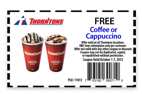 New codes for Thorntons