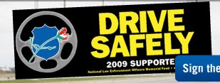 Free Drive Safely Bumper Sticker