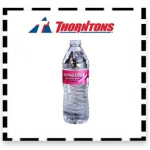 Free Bottle of Living Life Water at Thorntons