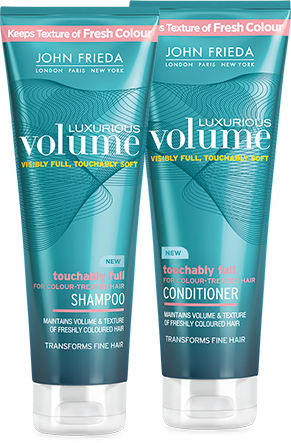Free John Frieda Luxurious Volume Shampoo and Conditioner Samples