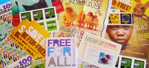 Free Stickers, DVD, and Leaflets From PETA