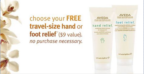 FREE Travel Size Hand or Foot Relief at Aveda (Through 6/21)