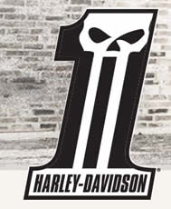 Free Harley Davidson Dark Custom Sticker