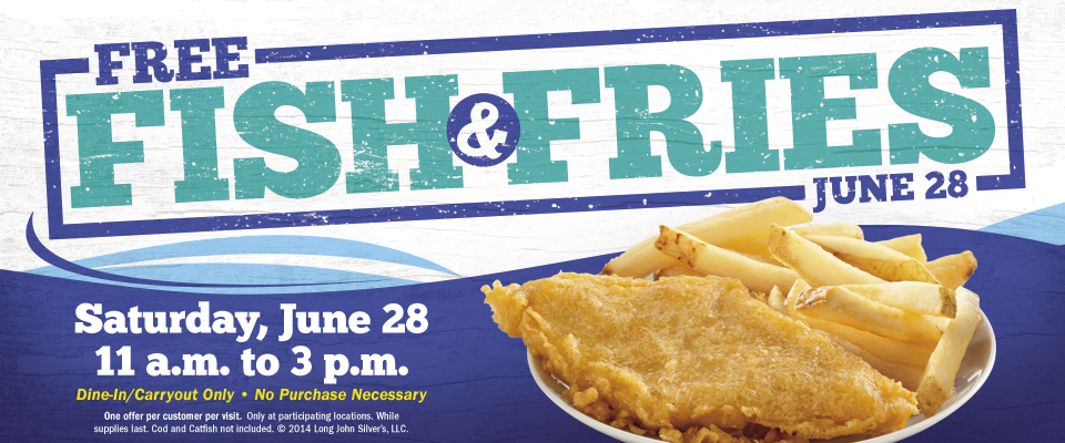 Free Fish Fries At Long John Silver S 6 28 Sweetfreestuff Com