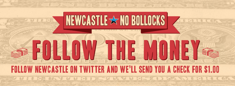 $1 Check From Newcastle Brown Ale