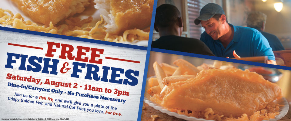 Free Fish & Fries at Long John Silver's 8/2