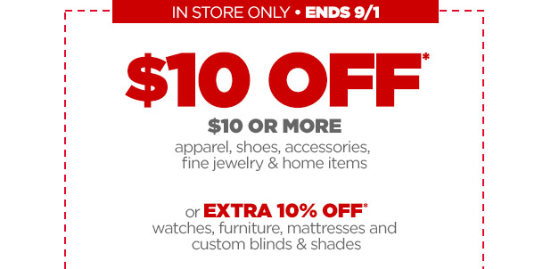 $10 off $10 or more Purchase at JCPenney