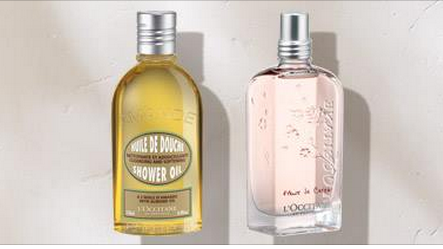 Free Cherry Blossom Eau de Toilette or Almond Shower Oil Samples at L'Occitane Stores