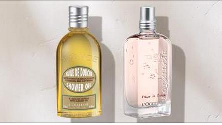 Free Cherry Blossom Eau de Toilette or Almond Shower Oil Samples at L'Occitane Stores