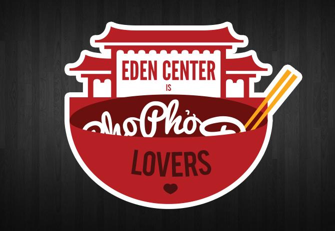 Free Eden Center Pho Lovers Diecut Stickers