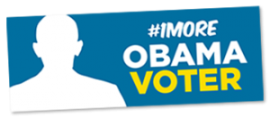 Free #1More Obama Voter Sticker