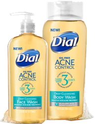 Free Dial Acne Control Face Wash and Body Wash Sample