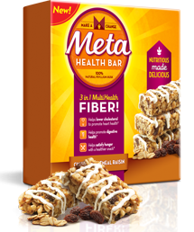 Free Cinnamon Oatmeal Raisin Meta Health Bar Sample