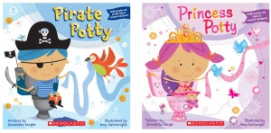 Free Scholastic Pirate Potty or Princess Potty Book
