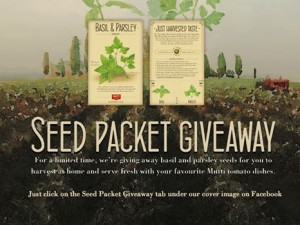 Free Basil and Parsley Seed Packet