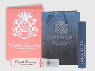Free Oxford Bleu or English Rose Fragrance Sample by English Laundry (Expired)