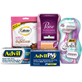 Free Samples of Advil, Advil PM, BIC Soleil, Caltrate and Poise