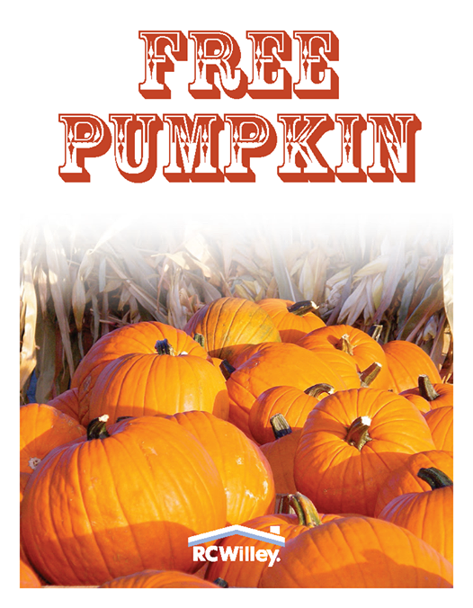 Free Pumpkin at RC Willey Stores