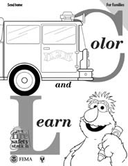 Free Sesame Street Fire Safety Station Coloring Book