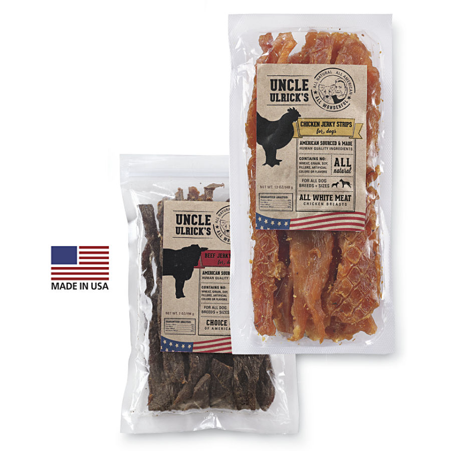 Free Sample of Uncle Ulrick's Jerky Dog Treats