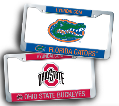 Free Hyundai College Football License Plate Frame
