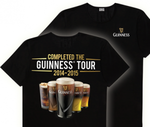 Free Guinness Tour T shirt