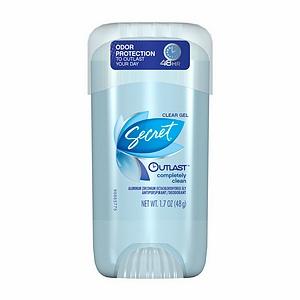Free Secret Clear Gel Outlast Deodorant Sample (Expired)