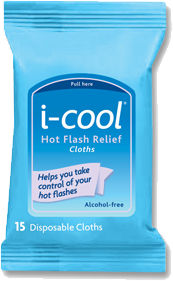 Free i cool Hot Flash Relief Cloth Sample Pack