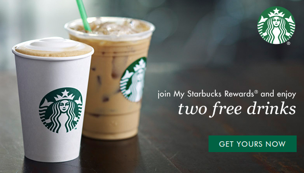 2 Free Drinks at Starbucks