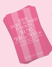 Free Victorias Secret Reward Card worth $10 or more