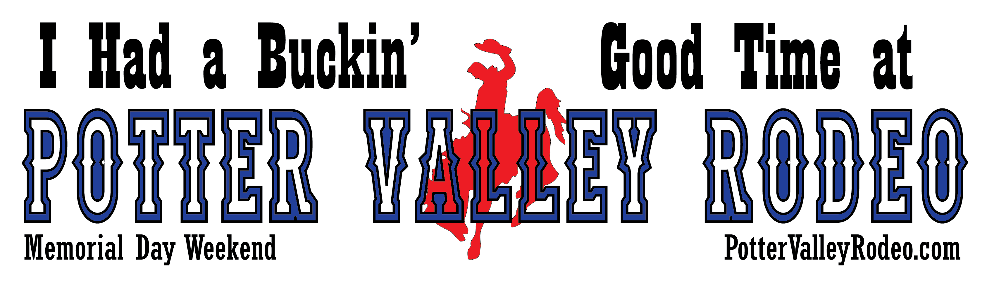 Free Potter Valley Rodeo Sticker
