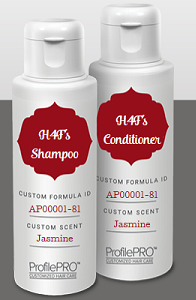 free personalized profilepro shampoo and conditioner set expired. Black Bedroom Furniture Sets. Home Design Ideas